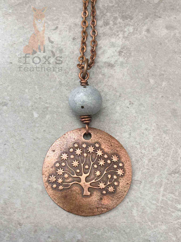 Tree of Life Necklace Blue