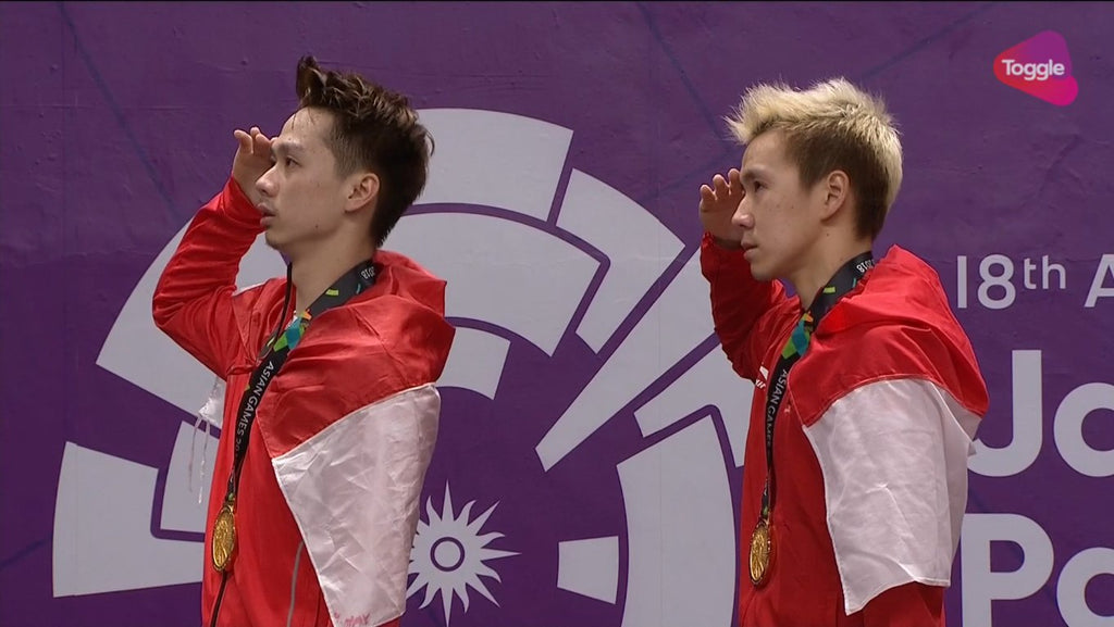 Marcus/Kevin Tutup Final badminton Asian Games 2018 dengan Medali Emas