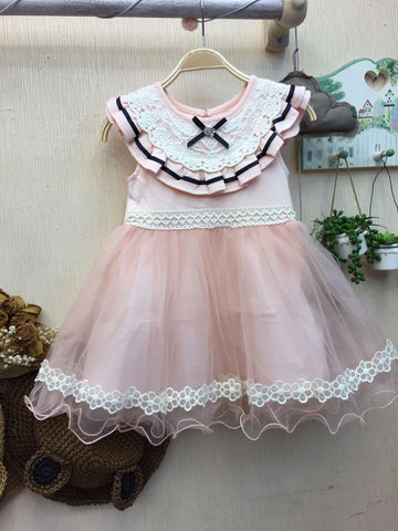 Dress Flower - Pink White - Nyari.id