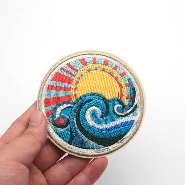 Waves and Sunlight Patches-Pins & Patches-Wantalo