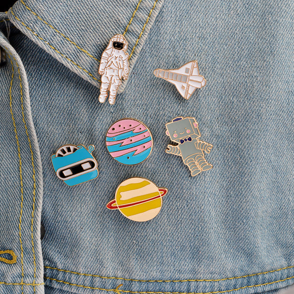 Pink Planet Enamel Pin - wantalo.com