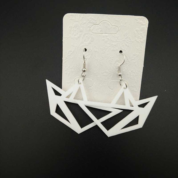 Origami Boat Earrings-Earrings-Wantalo