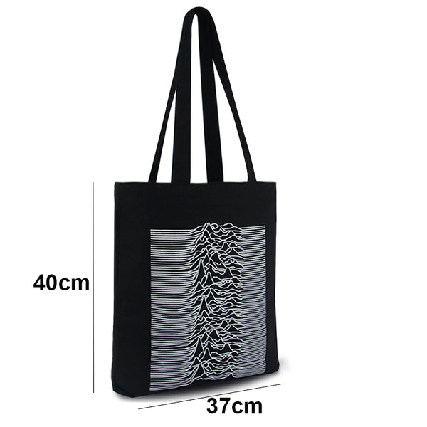 Unknown Pleasures Shopping Bag-Bags-Wantalo