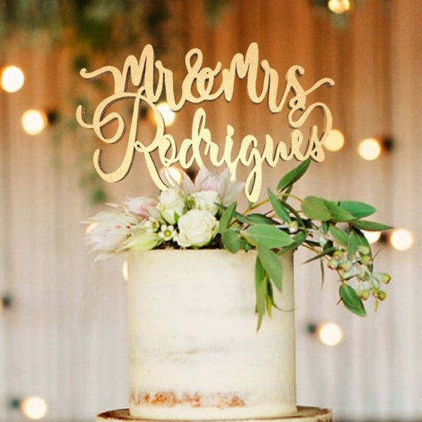Customised Wedding Cake Topper Rodrigues  Personalised Cake Topper  - GlobalWedding