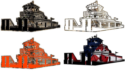 Camo Towboat Decal