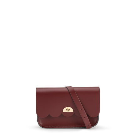 Small Cloud Bag in Leather - Oxblood