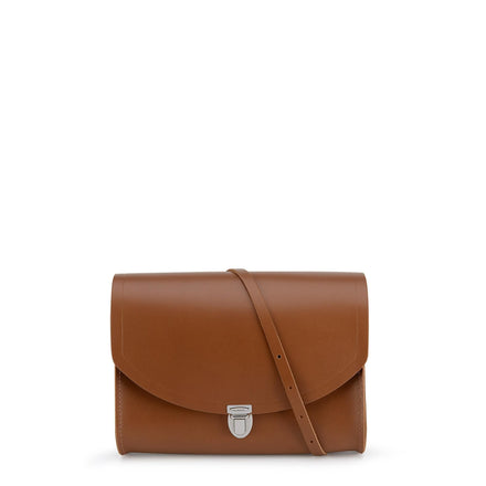 Large Push Lock in Leather - Vintage | Cambridge Satchel