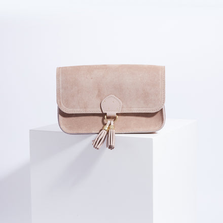 May Ball Clutch Bag - Sand Suede