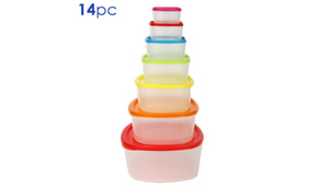 14 Piece Food Storage Container Set - Ships Same/Next Day!