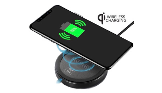GenTek Wireless Charging Pad for Smartphones (1 to 4 Packs) - Ships Same/Next Day!