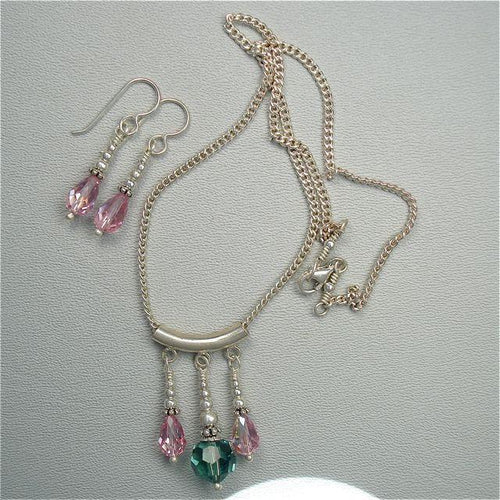 Swarovski Crystal Necklace and Earrings Set