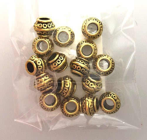 Pewter Beads Gold Tone Lead Safe!