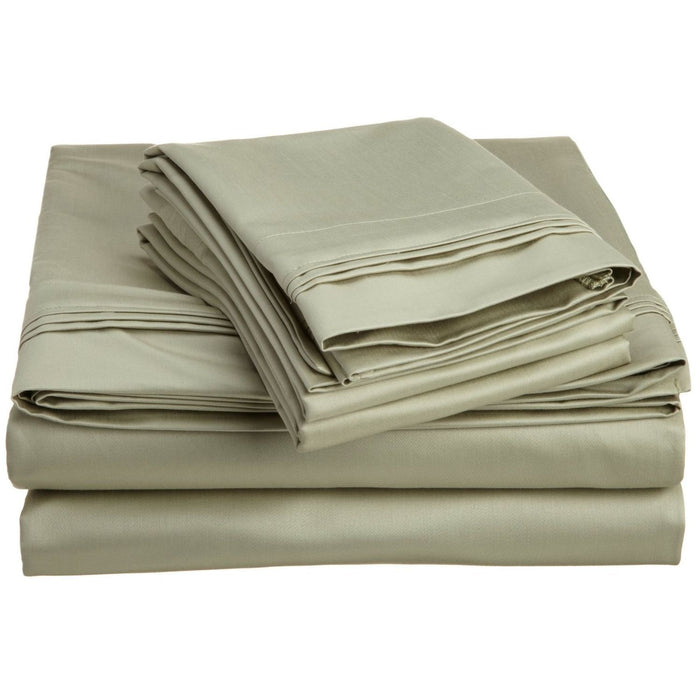 Superior 1500 Thread Counttc 100% Egyptian Cotton Solid Sheet Set