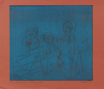 <i>Family Group; Saturday Night</i><br>1970 Serigraph<br><br>#2157A