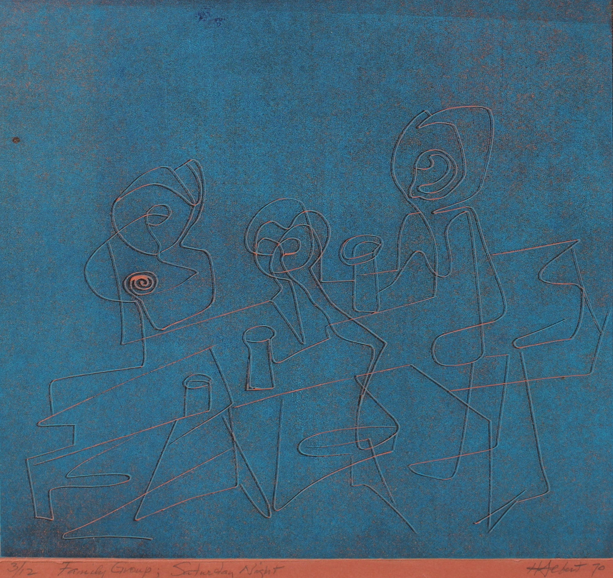 <i>Family Group; Saturday Night</i><br>1970 Serigraph<br><br>#2157D