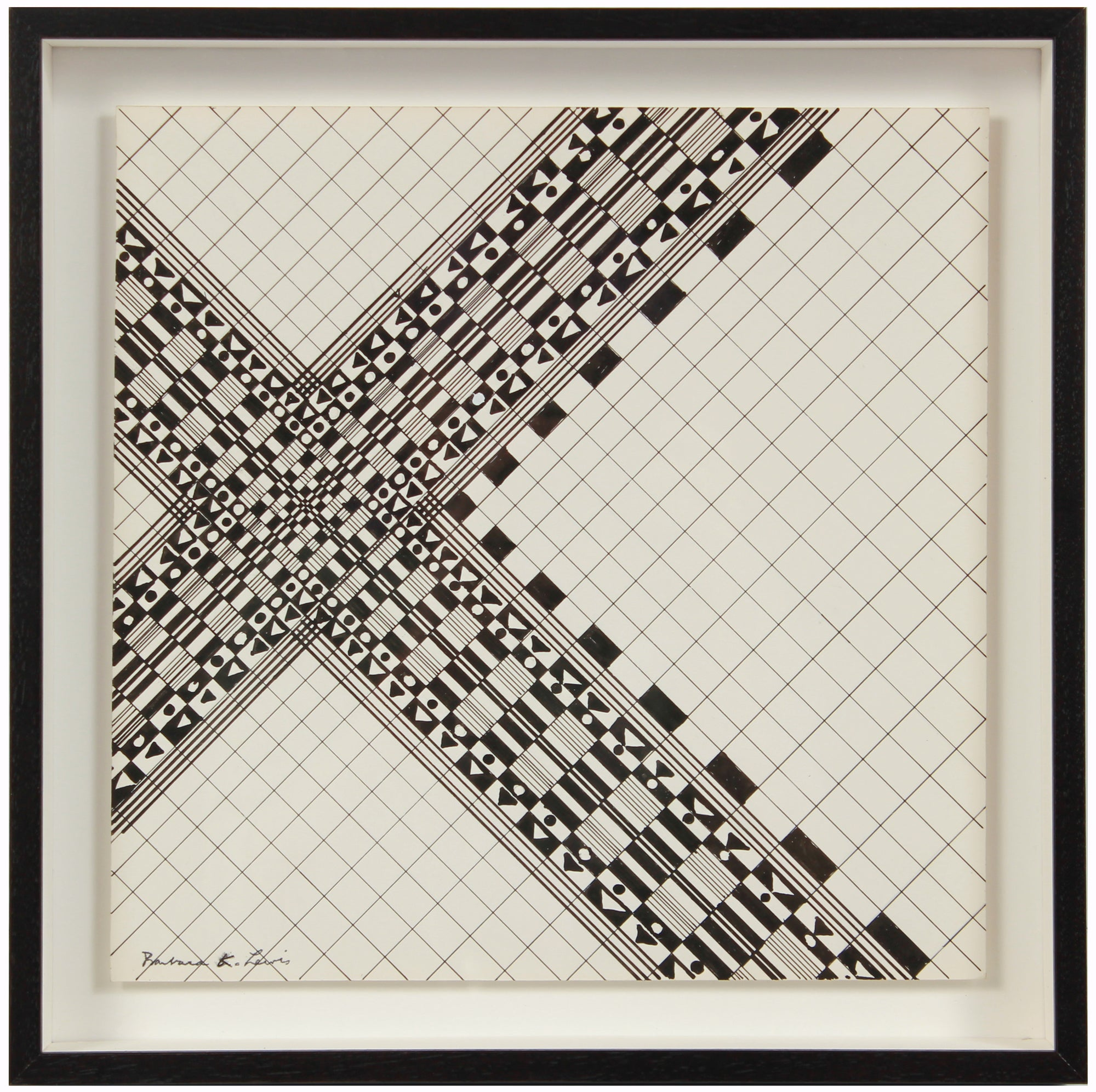 Precise Geometric Grid Drawing <br>1967 Ink <br><br>#A1504