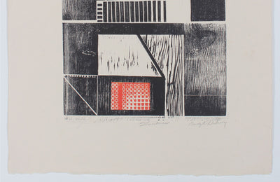 <i>Structures</i> <br>Mid Century Woodcut <br><br>#35937