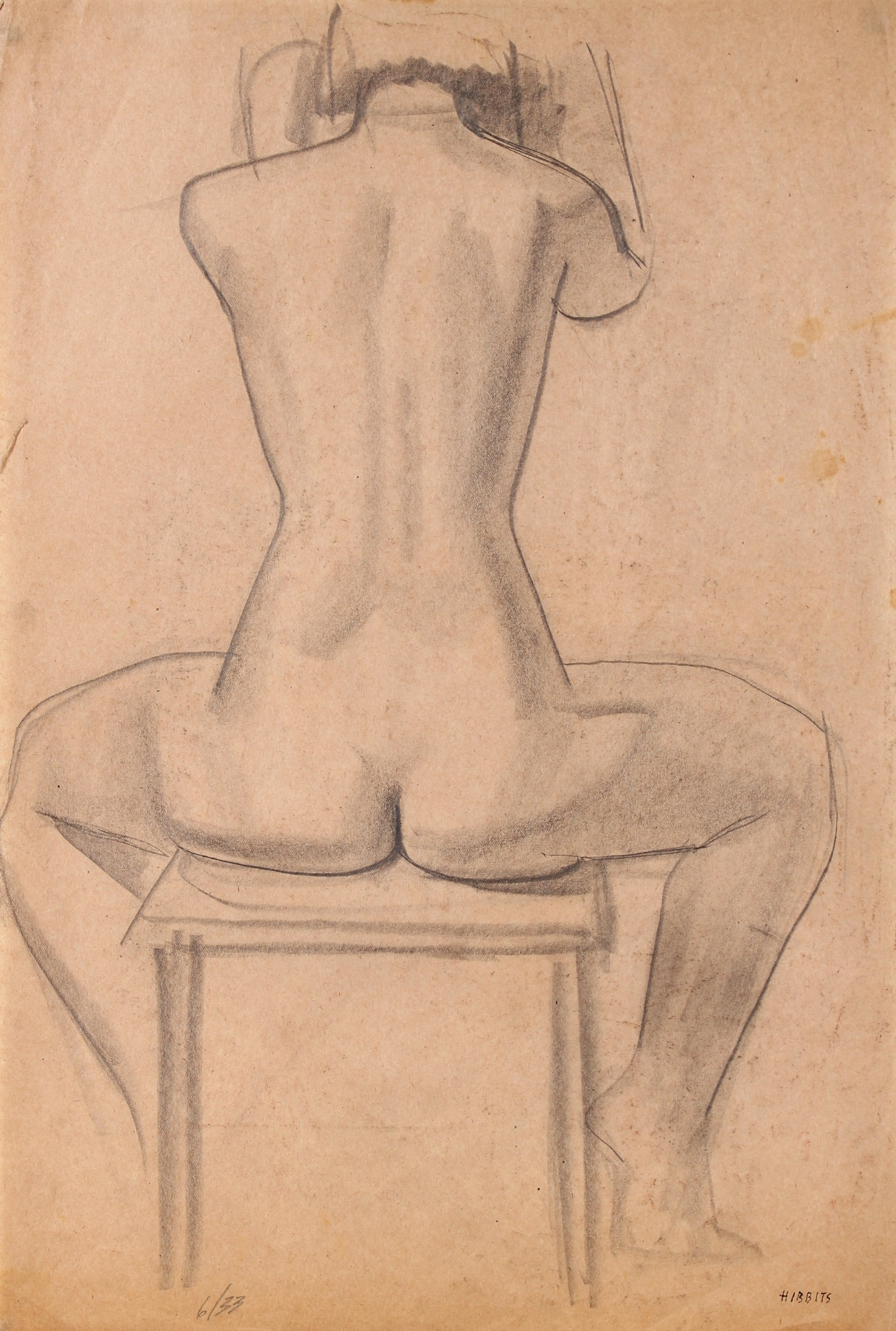 Female Nude in Chair<br>1933 Graphite<br><br>#90751