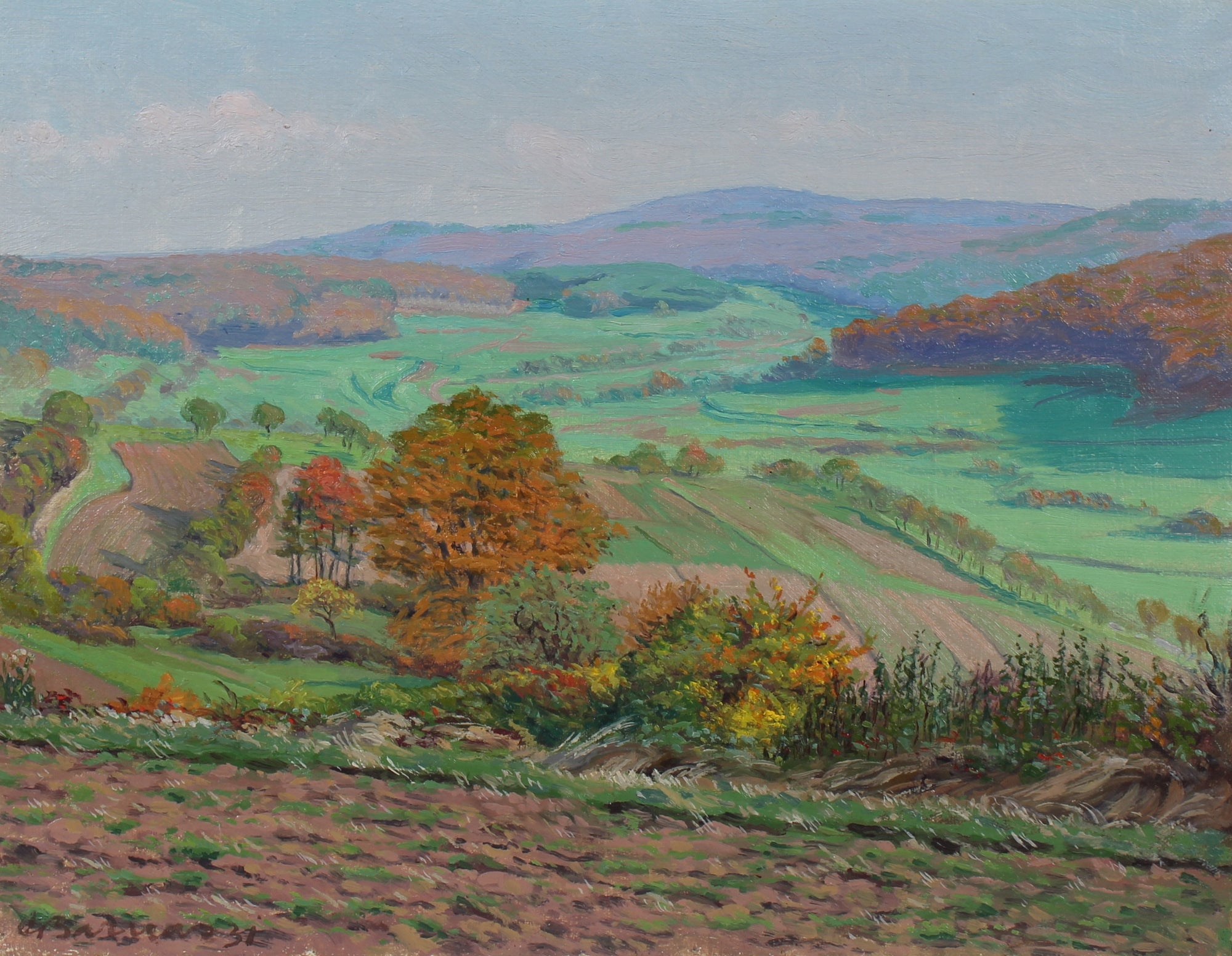 <i>View From Dietrichberg in Autumn</i><br>1931 Oil<br><br>#95837