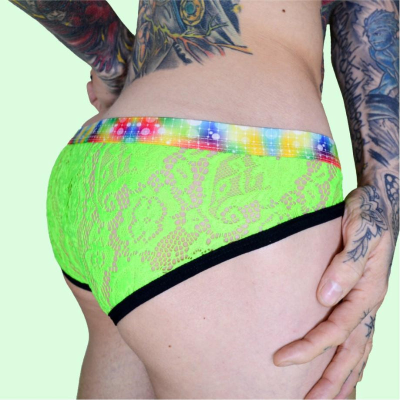 Super Gay Underwear - Matthew Leighton-Trew The Avery Green See Through Nylon Lace Underwear