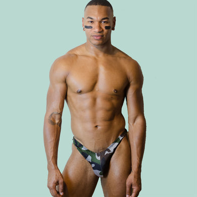 Rock Evans Miss Toto Model Army Brief Thong Gay Mens Lingeriea
