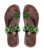Maua Green Flower Sandal