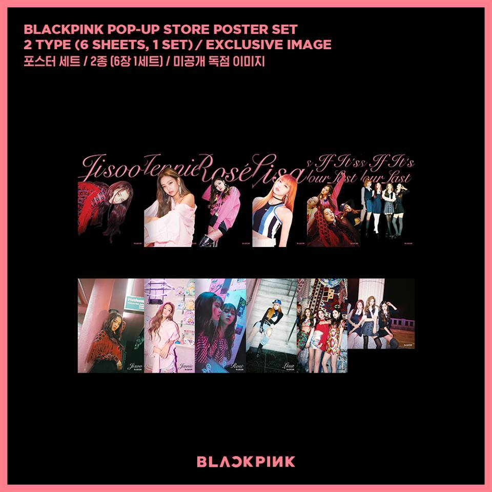 블랙핑크 BLACKPINK  POP-UP STORE POSTER SET (Version 1)