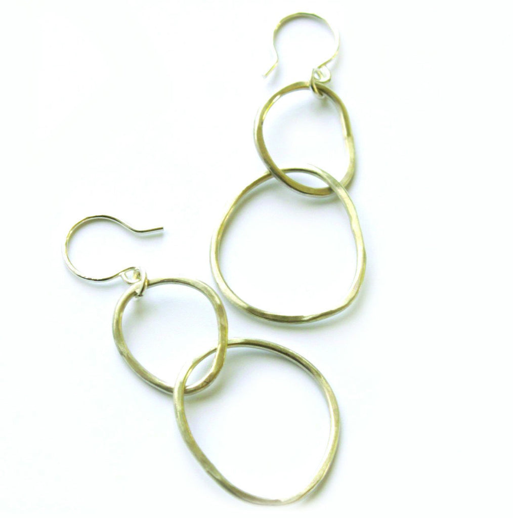 Free Form Kissing Circle earrings