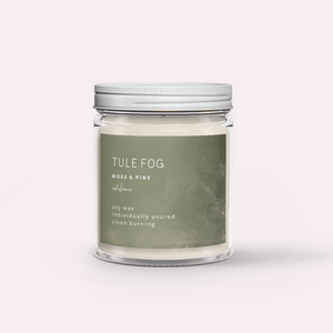 Moss and Pine Tule Fog Candle