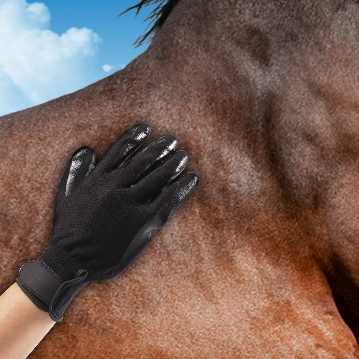 Pet Cleaning Brush Horses Grooming Gloves Comb for Dogs Cats Hair Silicone Massage Deshedding Tools
