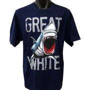 Great White Shark T-Shirt (Navy Blue, Regular and Big Sizes)