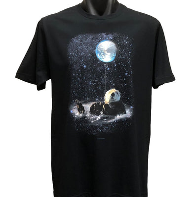Otter Space T-Shirt (Black, Regular and Big Sizes)