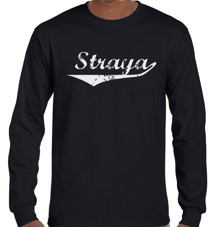 Straya Longsleeve T-Shirt (Black, Regular and Big Sizes)