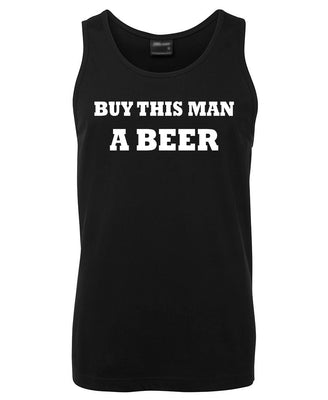 Buy This Man a Beer Mens Singlet (Black - Regular & Big Mens Sizes up to 6XL)