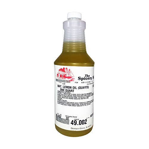 The Spicery Shoppe Natural Lemon Oil for Gummy bears, candy, and baking, 49.002 Quart Bottle