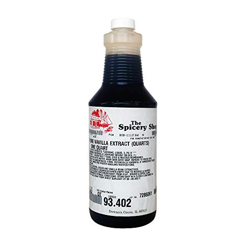 The Spicery Shoppe Pure Vanilla Extract for baking 93.402 Quart Bottle