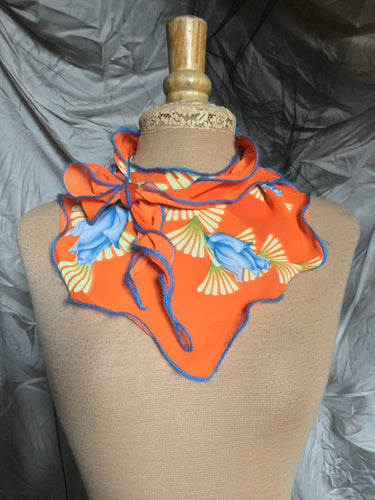 VENDU / SOLD OUT Roses bleues sur orange