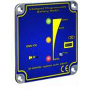 Intellitec Battery Watch (Battery Monitor LED green-yellow-red) 12/24V Square