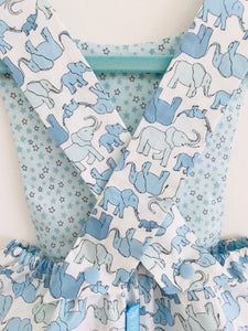 The Wishfairy Baby Riley Romper Suit (Marching Elephant Family)