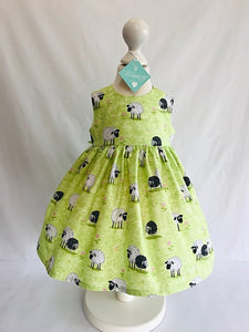 The Wishfairy Bunty Baby Dress (Lal The Lamb)
