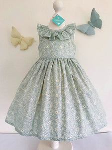 The Wishfairy Orla Dress 'Liberty Morning Dew in Light Blue'