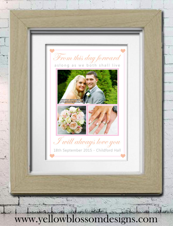 Personalised Wedding Print ~ Great Quality Gift