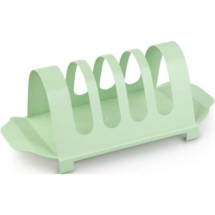 Enamelled Green Toast Rack