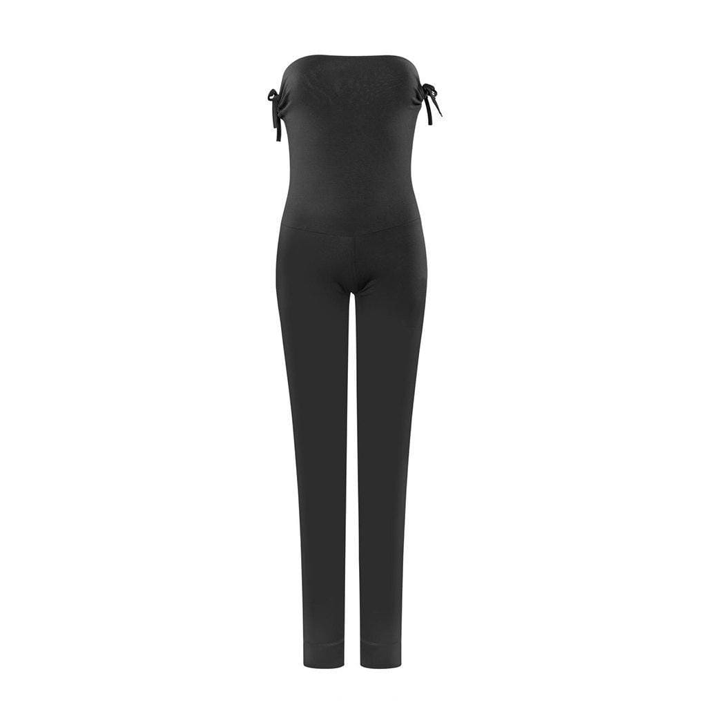 "Yogakleidung - 100% BIO - Yoga-Jumpsuit ""Inka"", charcoal - Individuell tragbarer Overall - PS"