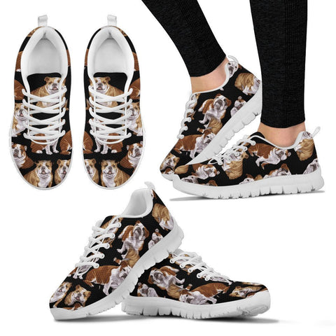 Bulldog Pattern Print Sneakers For Women Express Shipping