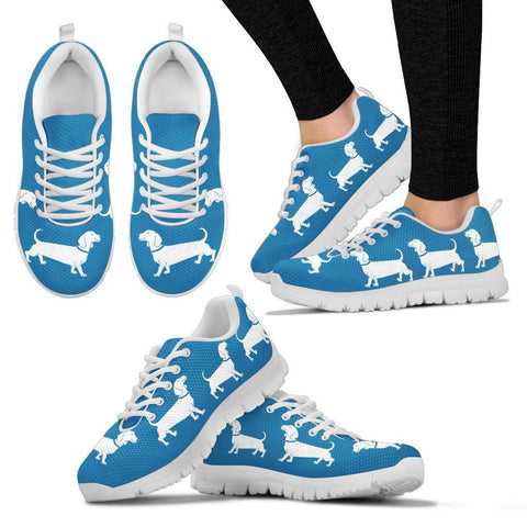 Cute Dachshund Dog Print Running Shoes For Women