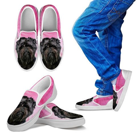 Affenpinscher Print Slip Ons For Kids Express Shipping