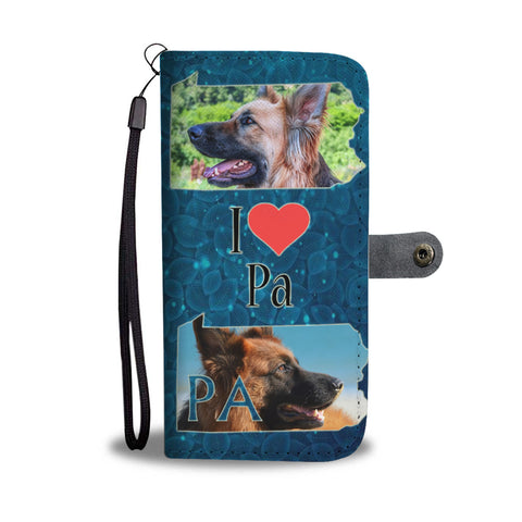 German Shepherd Dog Print Wallet CasePA State