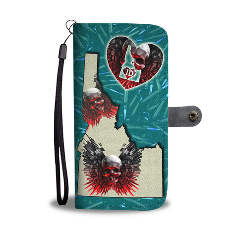 Gun And Skull Print Wallet CaseID State
