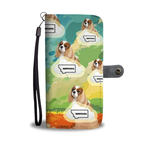 Cavalier King Charles spaniel Print Wallet CaseMT State